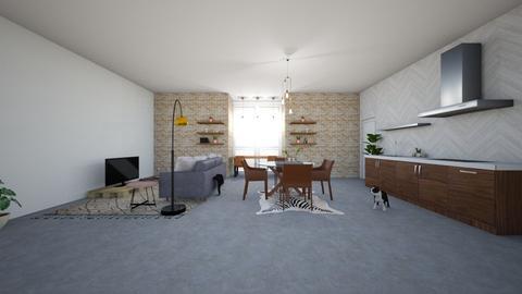 Farm_industrial lounge - Kitchen - by adfgijiofdfhjb