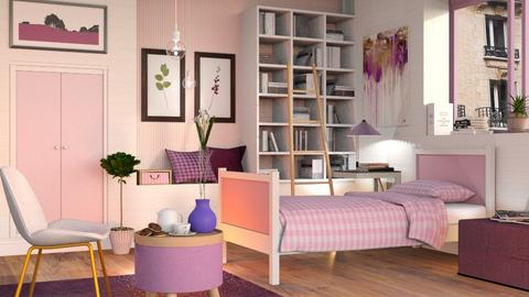 Pink and Purple Bedroom - Eclectic - Bedroom  - by Sally Simpson