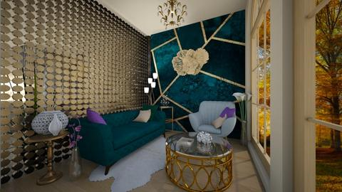 Art deco  - Living room - by Patricia_M