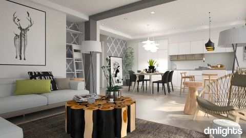 nordic home - Modern - Living room - by DMLights-user-982918