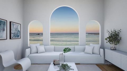 Santorini Modern Living  - Modern - Living room  - by aestheticXdesigns
