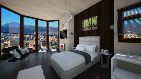 Sunrise Hotel Room - Modern - Bedroom - by LoukArt