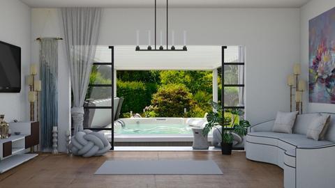 Home Yoga Sanctuary - Living room  - by rechnaya