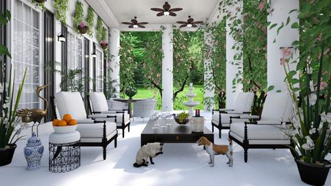 Old Southern Patio - Garden  - by lydiaenderlebell