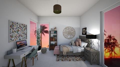 Teenager Bedroom - Rustic - Bedroom  - by tekoa06