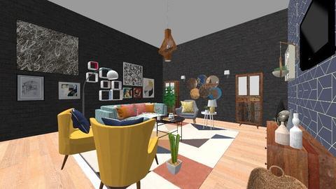 RETRO - Retro - Living room  - by phobolover2121