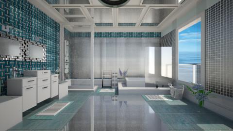 Blue Bathroom - Bathroom  - by Nico Langeveld