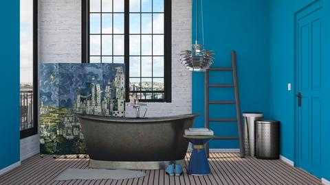Turquoise and Metal - Eclectic - Bathroom - by HenkRetro1960