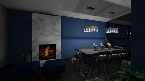 blue - Living room - by edataman