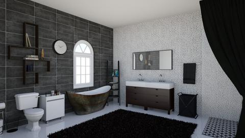 black bath - Bathroom  - by 32103sarah
