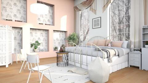Pink_Wall - Bedroom  - by ZuzanaDesign