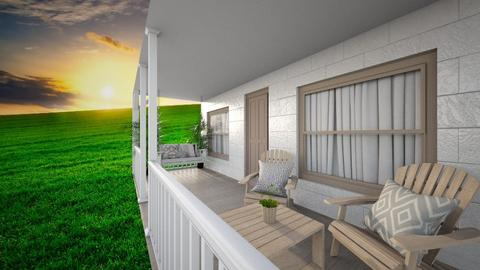 Summer Wooden Porch  - by LD16