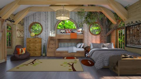 Attic Bed Outdoors - Bedroom  - by  krc60
