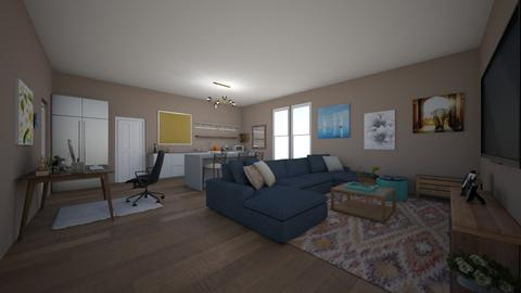 apartment living and dine - Modern - Living room - by LaurenLakin