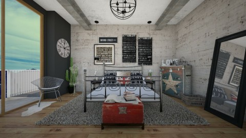Industrial Chic - Modern - Bedroom  - by DeborahArmelin
