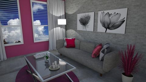 Pink Living - Dining room  - by Flaflaf