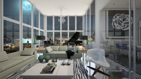 Penthouse - Living room - by Sanare Sousa