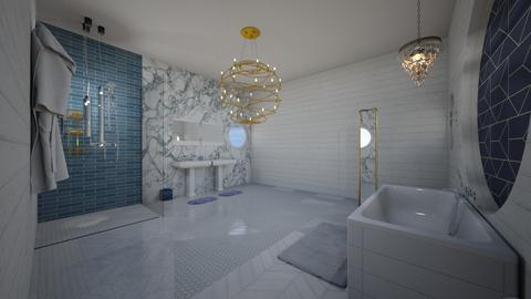 Blue Bathroom - Bathroom  - by designer408340284