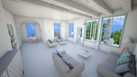 The greek decor touch - Minimal - Living room - by Moonpearl