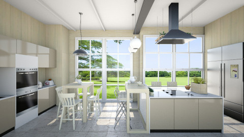 Kitchen overlooking - Modern - Bathroom  - by Leyvna