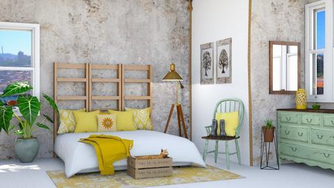 eclectic bedroom - Bedroom  - by rasty