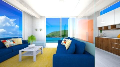 beach house 1 - Masculine - Living room - by newyork4everloved