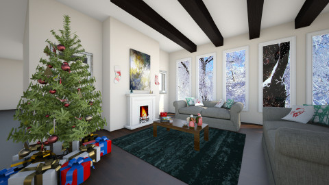 Modern Christmas - Living room - by Zoe_Roomstyler