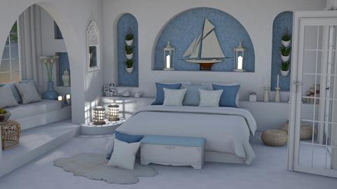Blue and White - Bedroom  - by bigmama14