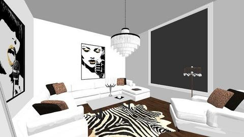 Glam Living Room - Glamour - Living room  - by RoseMachado0006