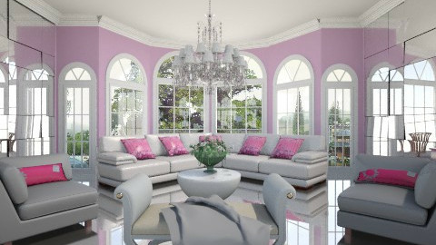 pink - Modern - Living room - by XValidze