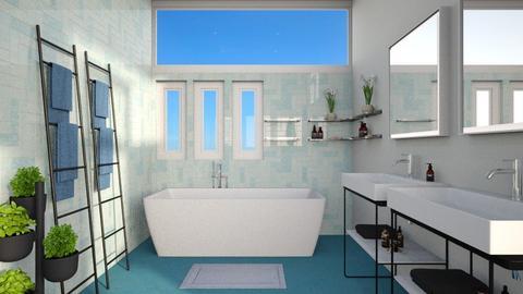 Turquoise Bathroom - by lauren_murphy