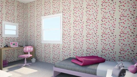 Pink - Feminine - Kids room - by kitten lover