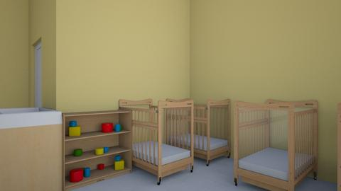 HH crib corner from table - Kids room  - by addiwood