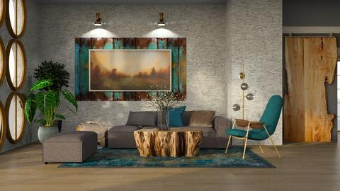 Modern and rustic - Modern - Living room  - by ZsuzsannaCs