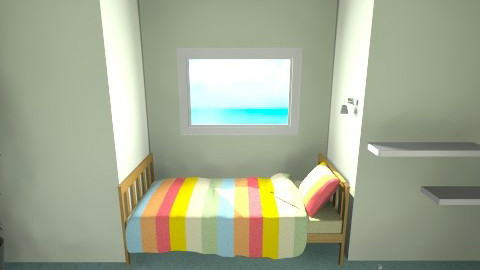 Small bed nook - Kids room - by Sara Price