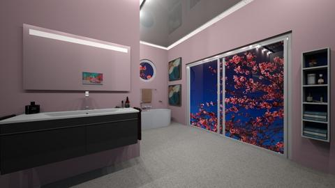 Cherry Blossom Bathroom - Modern - Bathroom  - by sfurkan