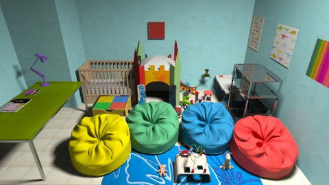The Play Room - Retro - Kids room  - by jenn_loverr_98