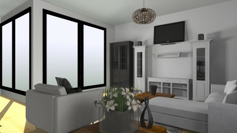 Living Space 1 - Living room  - by tashguenth