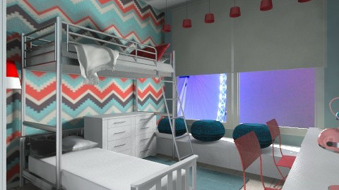 teenage twins unisex room - Kids room  - by AndreaMTorres1