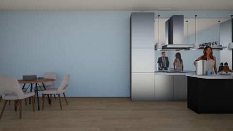 Modern Kitchen_Living - Modern - by artsy_naturelover