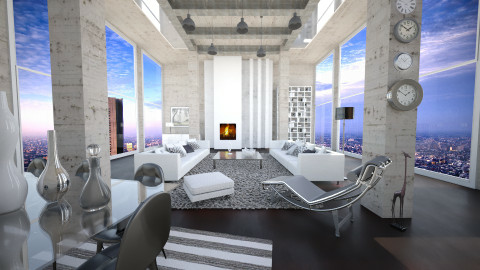 concrete home - Modern - Living room  - by Senia N