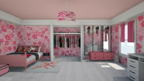 pink girl - Glamour - Bedroom  - by Karine Hakobayan