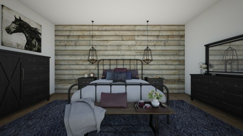 Log Cabin Retreat - Rustic - Bedroom  - by Malwalker02