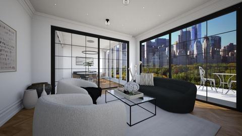 Contemporary Apartment - Living room  - by Eldora