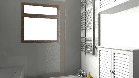 salle de bain/ plan 3 - Retro - Bathroom  - by Yellow1806