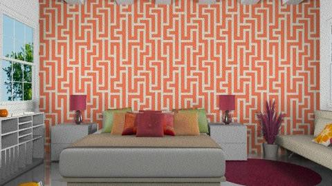 vibrant colors - Modern - Bedroom  - by Aliya Al