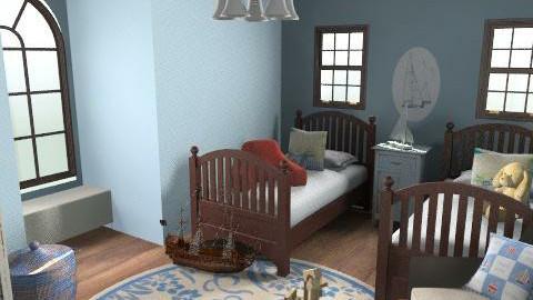 Sailboat Boy's Room - Rustic - Bedroom  - by eleo123