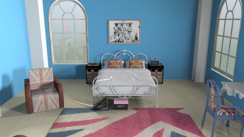 Proud to be - Vintage - Bedroom  - by CassW