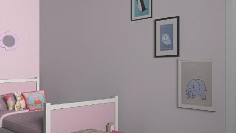 Kate and Annelise bedroom - Feminine - Bedroom - by kashie13