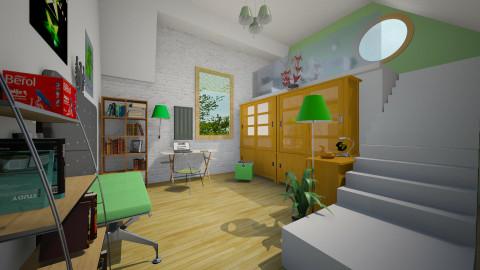 bright study - Retro - Office  - by donella
